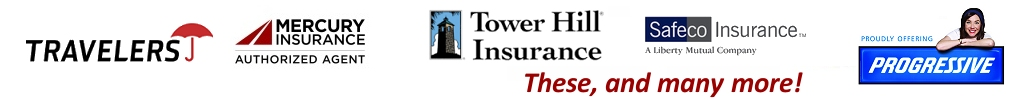 insurance carrier logos represented by Authority Ins.